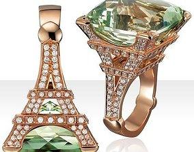 3D print model Eiffel Ring