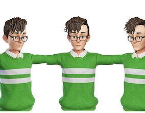 Teen Boy Green 3D model