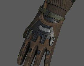 3D model Gloves Sci-fi military fantasy combat military