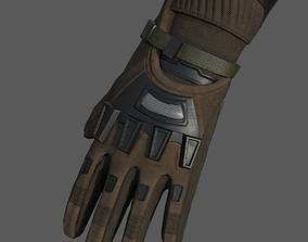 3D model Gloves Sci-fi military fantasy combat military