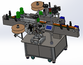 Full-automatic double-side labeling machine 3D model