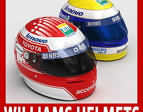Helmet F1 2009 Nico Rosberg and Kazuki Nakajima 3D