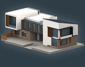 exterior 3D model Villa