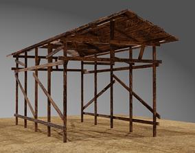 Wooden Shed or Shelter 3D model