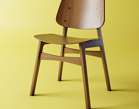 Fredericias Soborg Chair - Silla Fredericias 3D model