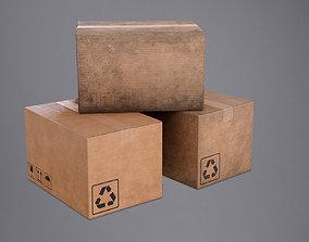 3D asset Cardboard Box - PBR Game Ready