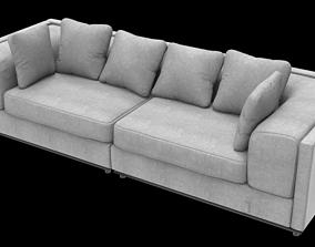 3D model Fabric Cloth Sofa