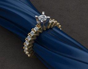 Engagment Diamond Ring 3D printable model