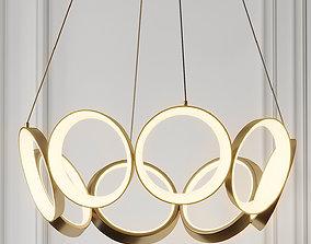 3D model Oros LED Chandelier By Kuzco Lighting