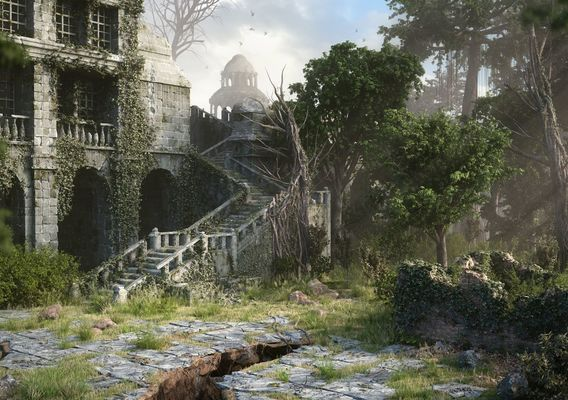 Forgotten Temple by Tom Nemeth