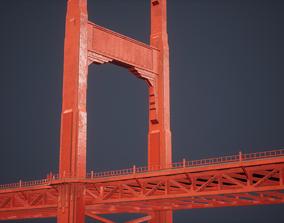 Modular Bridge Low Poly Game Ready 3D asset