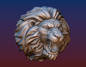 Lion head short mane 3D print model