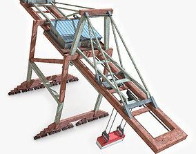 3D model VR / AR ready Dock Crane