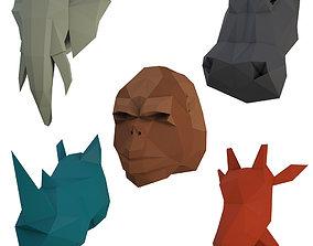 3D model Sculpture Animals Safari