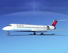 Boeing 717-200 Delta 3 3D