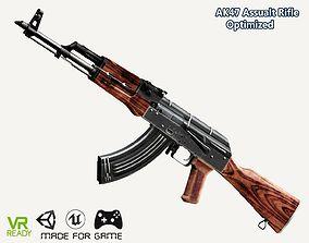 AK-47 Assault Rifle Gun Optimized 3D asset