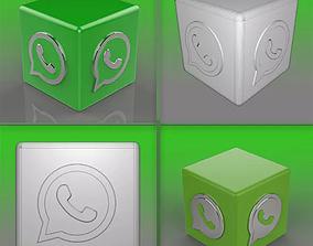 Whatsapp Logo 3D