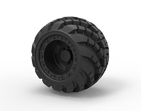 3D printable model Diecast Arched offroad wheel diy