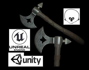 Viking Axe 3D asset game-ready PBR viking