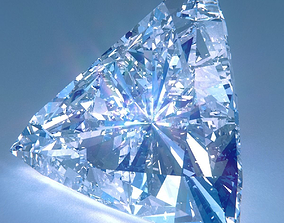 3D Diamond Trillion Cut