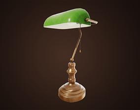 3D model low-poly Vintage Desk Lamp