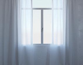 cloth Curtain 01 3D model