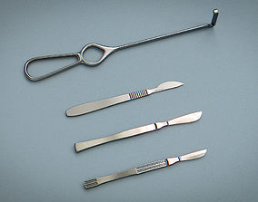 Scalpel and Retractor - Medical Instruments 3D asset