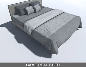 3D model Bed with LOD