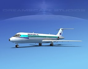 Douglas DC-9-30 Republic 3D model