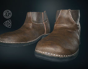 Brown Leather Boots 1 3D asset