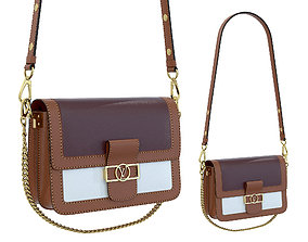 3D asset Louis Vuitton Dauphine Bag Brown Bordo