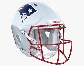 3D model New England Patriots Football Helmet