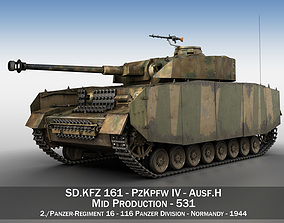 3D model PzKpfw IV - Panzer 4 - Ausf H - 531