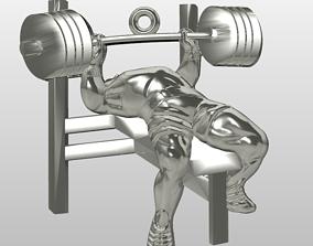 Bench press GYM athlete pendant 3D printable model