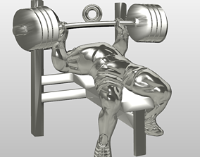 Bench press GYM athlete pendant 3D printable model
