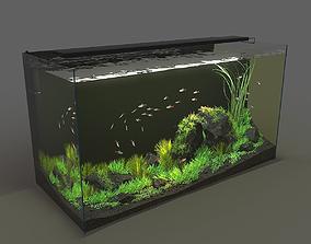 Aquarium rectangle 120l 3D