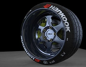 3D model Rotiform MHG low offset wheel