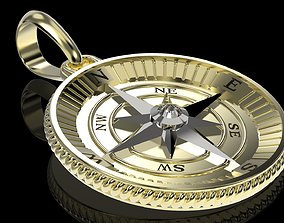 Maritime Nautical Star Compass Pendant 3D print model