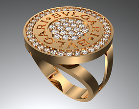 BVLGARI RING gold 3D printable model