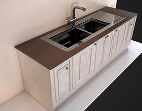 3D asset Kitchen Sink Unit