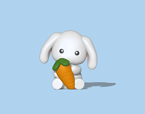 A Baby Bunny to decorate and play 3D printable model