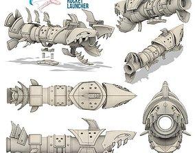 League of legends cosplay Jinx rocket gun 3D print model
