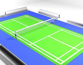 3D model Game Court - Badminton