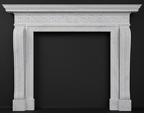 3D model Georgian Style Fireplace Mantel