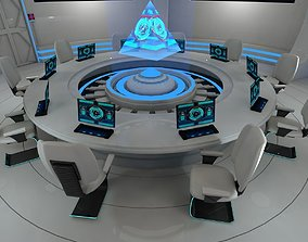 interior 3D Sci fi meeting room