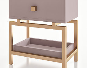 low-poly Bedside table Sokol 3d model