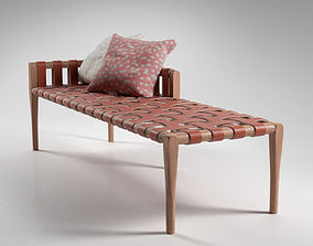 Woven Leather Bench 3D