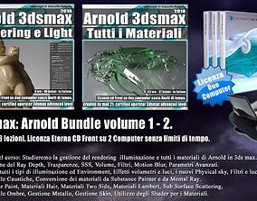 Arnold in 3ds max Bundle Volume 1 e 2 Cd Front