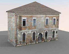 game-ready Low Poly Apartment Building Venice 001 3D Model