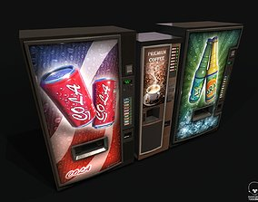 3D asset Vending Machines pack